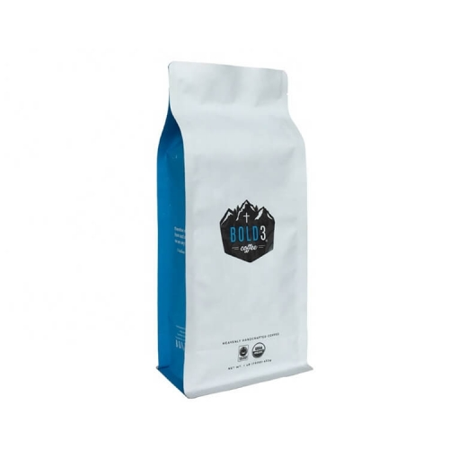 Muestra gratis al por mayor Custom 8 Side Seal Matt White Side Gusset Coffee Packaging Bag con válvula